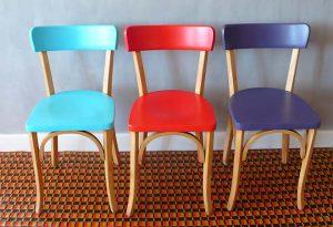 Chaise 3 chaises de bistrot