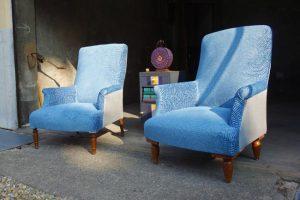 Paire fauteuils anglais