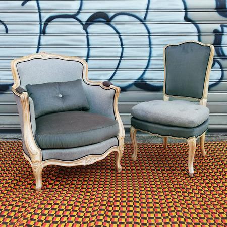 Bergère Louis XV et chaise