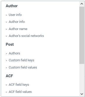 Dynamic Tags Custom Fields-ACF