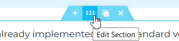 Elementor attributes edit section