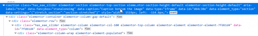 Inspector tools to watch attributes for Elementor