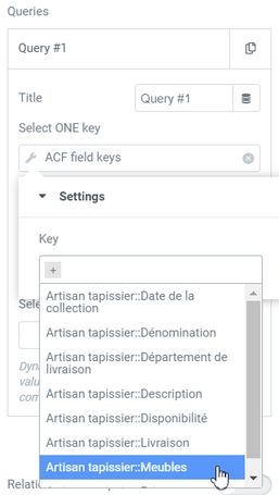 Query filter Select Field ACF