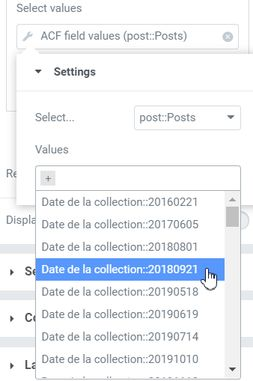 Query filter Select The Values ACF